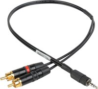 SES-IPSUMRCA iPhone/iPod/iPad TRS RCA to TRRS 3.5mm to Mic Level Summing Cable
