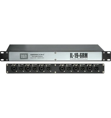 IL-19-6RM Pro Audio Hum Eliminator 6 Channel Rackmount with Isolation