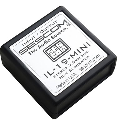 IL-19-MINI Hum Eliminator 3.5mm Stereo Mini I/O