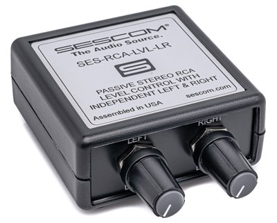SES-RCA-LVL-LR Stereo Dual RCA Left / Right Volume Control