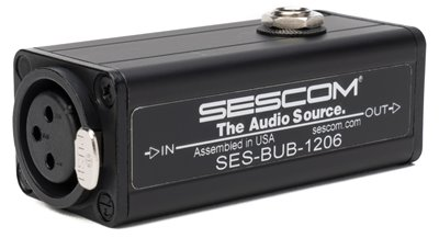 SES-BUB-1206 Active 1-Channel Balanced XLR to Unbalanced RCA Audio Converter