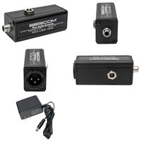 SES-UBB-1646 Active 1-Channel Unbalanced RCA to Balanced XLR Audio Converter