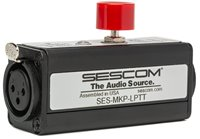 Sescom SES-MKP-LPTT Inline XLR Female to Male Latching Push-To-Talk Microphone Signal On/Off Switch