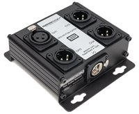 SES-4X1F3M-CATBX 4 Channel Passive Balanced Audio Extender over CAT5/6/7 - RJ45 to 1 Female & 3 Male XLR