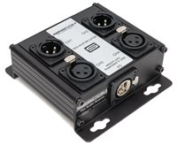 Sescom SES-4X2F2M-CATBX 4 Channel Passive Balanced Audio Extender over CAT5/6/7 - RJ45 to 2 Female & 2 Male XLR