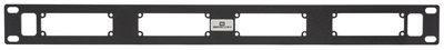 SES-X-RM2 1RU Rack Mount for 4 Sescom SES-X-FA2LRL01 or SES-X-FA2LRT01 Audio Fiber Transmitters and/or Receivers