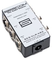 SES-XLR-AB2 Two Source to One Destination 2-Channel Balanced Passive XLR A/B Stereo Audio Switch