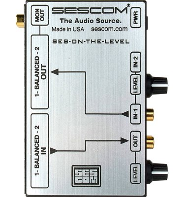 SES-ON-THE-LEVEL RCA to XLR Audio Level Converter with Level Controls