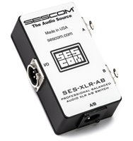 SES-XLR-AB Balanced Audio Pro Grade XLR A/B Passive Switch
