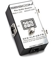 SES-XLR-AB-FS Balanced XLR A/B Passive Foot Switch with Disconnect/Mute