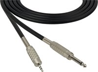 4 Conductor Audio Cable 3.5mm TRS Male to  1/4 Inch TS Male