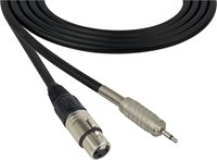 4 Conductor Audio Cable 3.5mm TS Male to XLR Female