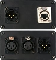 SES-PROCAT-XLR 4-Channel XLR Audio Stage Box to Single CAT5/5e/6 Cable Combiner System