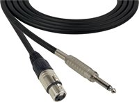 4 Conductor Audio Cable XLR Female to 1/4 Inch TS Male