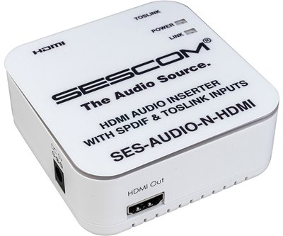 SES-AUDIO-N-HDMI L/R RCA Analog Audio & Toslink to HDMI Audio Inserter